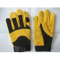 Quality New Design Deerskin Machinist Yellow Safety Working Safety Gloves For General Work for sale