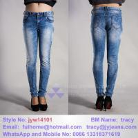 Buy cheap Vogue snow wash jeans product