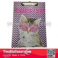 Quality BACK TO SCHOOL Quality Cat Printed Writing Paper Clipboard for sale