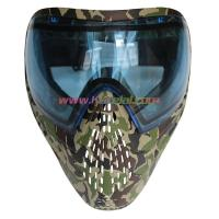 Quality Protective Mask Camo Tactical Military Anti Fog Paintball Mask with Blue DYE I4 Thermal Lens for sale