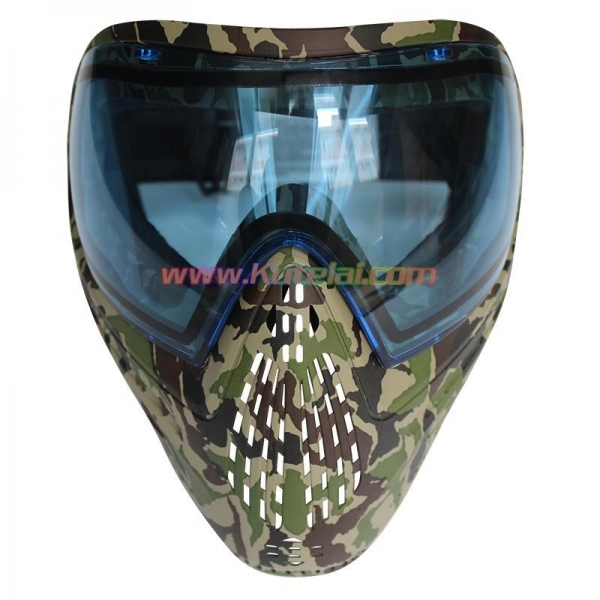 China Protective Mask Camo Tactical Military Anti Fog Paintball Mask with Blue DYE I4 Thermal Lens