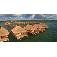 Light Steel Frame Houses Yellow Overwater Bungalow