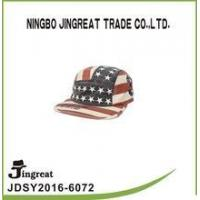 China 100% cotton army caps flat brim sport hats for men&women on sale