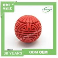Quality Factory sell cinnabar beads, Hand carved beads , red cinnabar beads for sale