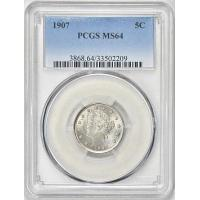 Quality 1907 Liberty Nickel PCGS MS-64 for sale
