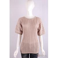Quality P-014 Crew Neck Womens Structure Knit Pullover, Spring/Summer Cotton Sweater for sale