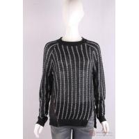 Quality P-051 Pullover with stripe, zipper slit for sale