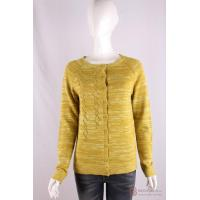 Quality C-019 Crew Neck Womens Structure Knit Cardigan, Spring/Summer Mouline sweater for sale