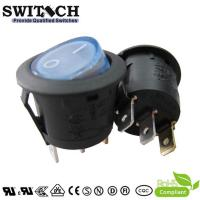 China KAN-B2-SW25P28BL 23mm DC 12V 3pins, on-off, SPDT rocker switch with blue LED light on sale