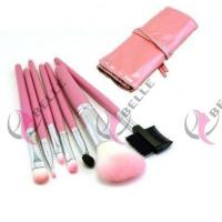 Quality TB-7-34 Feather 7pcs makeup brush set with case 3 colors for sale