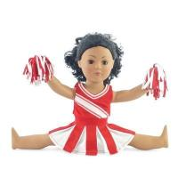 Quality 18-inch Doll Clothes - Cheerleader Dress with Pants and Pom Poms - fits American Girl  Dolls for sale