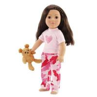 Quality 18-inch Doll Clothes - Heart Pajamas/PJs with Teddy Bear - fits American Girl  Dolls for sale
