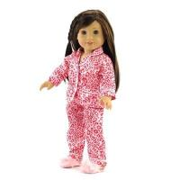 Quality 18-inch Doll Clothes - Leopard Print Pajamas/PJs with Fuzzy Slippers - fits American Girl  Dolls for sale