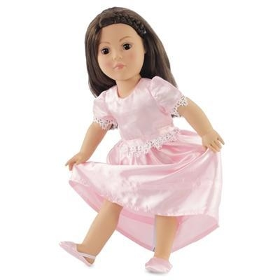 Buy 18-inch Doll Clothes - Pink Satin Nightgown with Slippers - fits American Girl  Dolls at wholesale prices