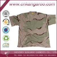 Quality 100% Cotton 160gsm 3 Colors Desert Camouflage Army T Shirt for sale