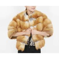 China Genuine red fox fur jacket with half sleeve for women TT092 on sale