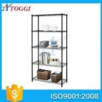 Quality wire shelf hot sale foldable powder coated black wire shelving for sale