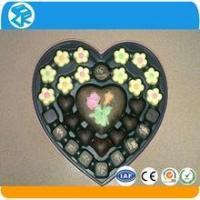 China Factory new design disposable clear heart shape chocolate packaging box on sale