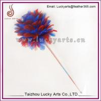 Quality Colorfull Feather Cat Toy Ball For Sale for sale