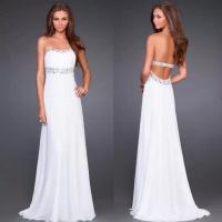 Quality Hot Sell Evening Dresses CSXN099Open Back Long Chiffon Gown Evening Dresses for sale