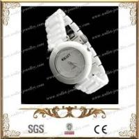 Quality Idiomatical ceramic watch with stainless steel snap fastener for sale