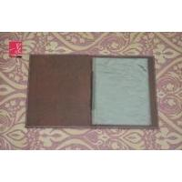 A4 PU leather menu books with two PVC pocket