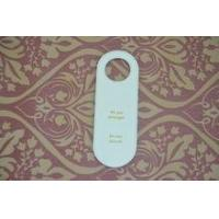 Quality PU leather handle Caution sign for hotel and restaurant for sale