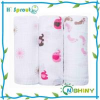 Quality Printed Bamboo Baby Muslin Wrap for sale