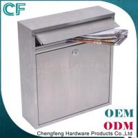 China Rustproof wall mounted stainless steel mailbox on sale