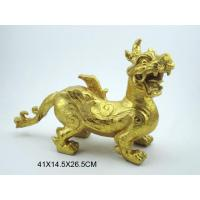 Buy cheap Resin Dragon Sculpture,Gold Foil from wholesalers