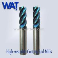 Quality 65 HRC Nano-Blue Carbide End Mill Cutter, High Speed Cutter for sale