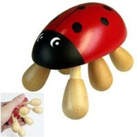 Quality lady beetle animal wooden massager for sale