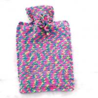 China full color knit hot water bottle cover on sale