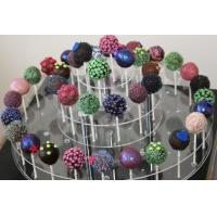 Acrylic Counter Displays Clear four layers disc candy display with holes for sale