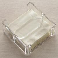 Acrylic Counter Displays Lucite Clear Napkin Holder for sale