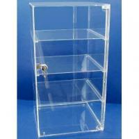 Acrylic Counter Displays Four shelves clear acrylic case with door and lock for sale