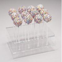 Acrylic Counter Displays Clear three layer rectangle candy display with holes for sale