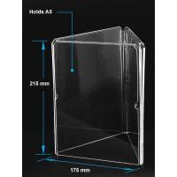 China Acrylic Table Tent Clear acrylic A5 menu holder with three sides for sale