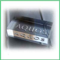 Acrylic Counter Displays acrylic LOGO block with lasering for sale