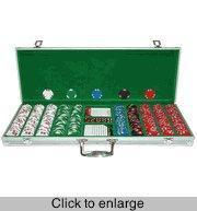 Quality Poker Sets Lucky Bee 500 Chip Set in Aluminum Case for sale