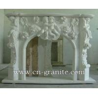 luxury white marble fireplace mantel