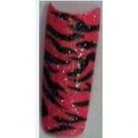 Zebra hot pink small glitter
