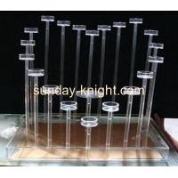 China Acrylic heart shape candle holder for hotel and canteen HCK-002 on sale