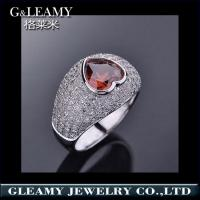 China 925 sterling silver ring,heart shaped crystal engagement rings on sale