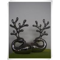 Quality Lovely Deer Stainless Steel Sculpture For Indoor Decoration for sale