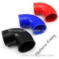 """Quality 4"""" to 3"""" Black 90 degree Reducer Elbows Silicone Hose 102mm to 76mm for sale"""