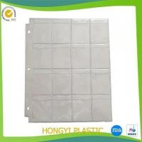 Quality Inner sheet protector pvc stamp collection page for sale