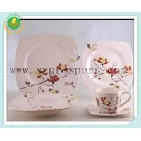 Ceramic dinnerware 20pcs handpainted square set