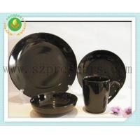 Quality Ceramic dinnerware 16PC round solid color set for sale