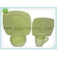 Quality Ceramic dinnerware 16PC Square set solid color for sale